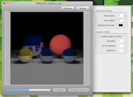 CastingStage cocoa raytracer preview