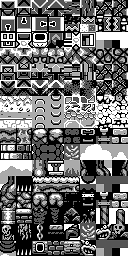 A portion of Link's Awakening dungeons graphics